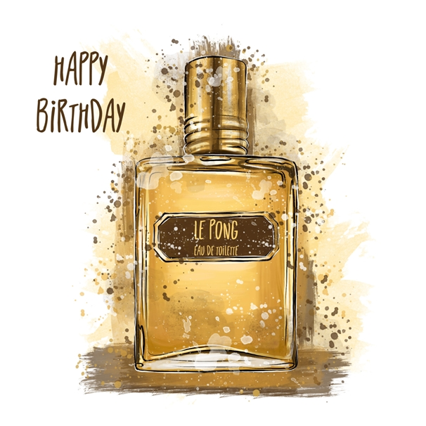 Snappy Designz Aftershave Birthday Card  personalised online greeting card