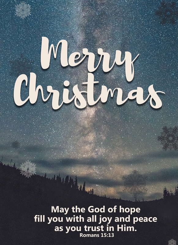 Joyful  Christmas card with Bible verse   personalised online greeting card