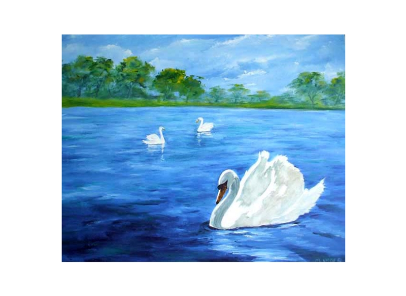 EmilyJane Swans  personalised online greeting card