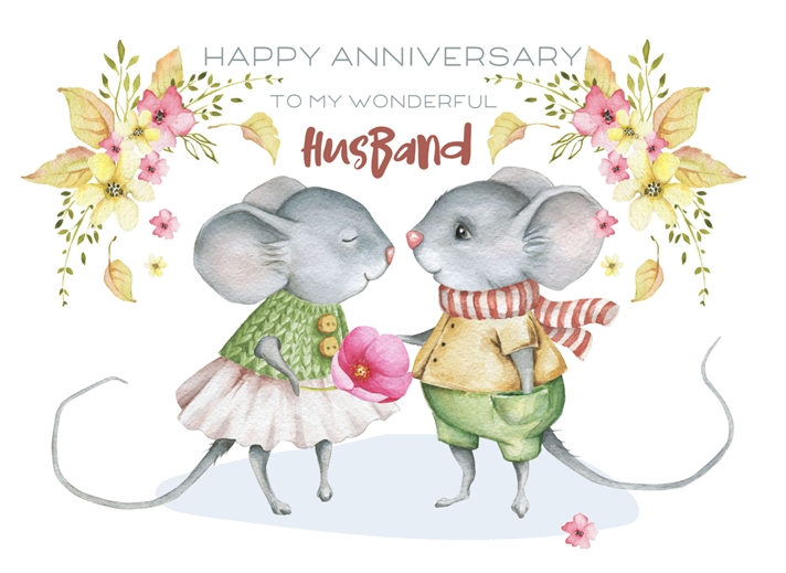 Snappy Designz Husband Anniversary Card  personalised online greeting card