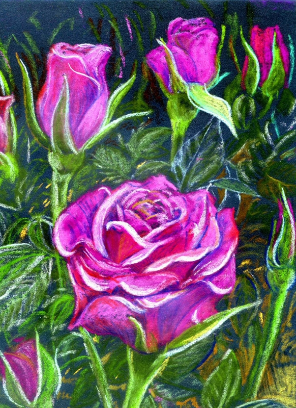 Artcards by Matthew Evans Roses for Mother  personalised online greeting card
