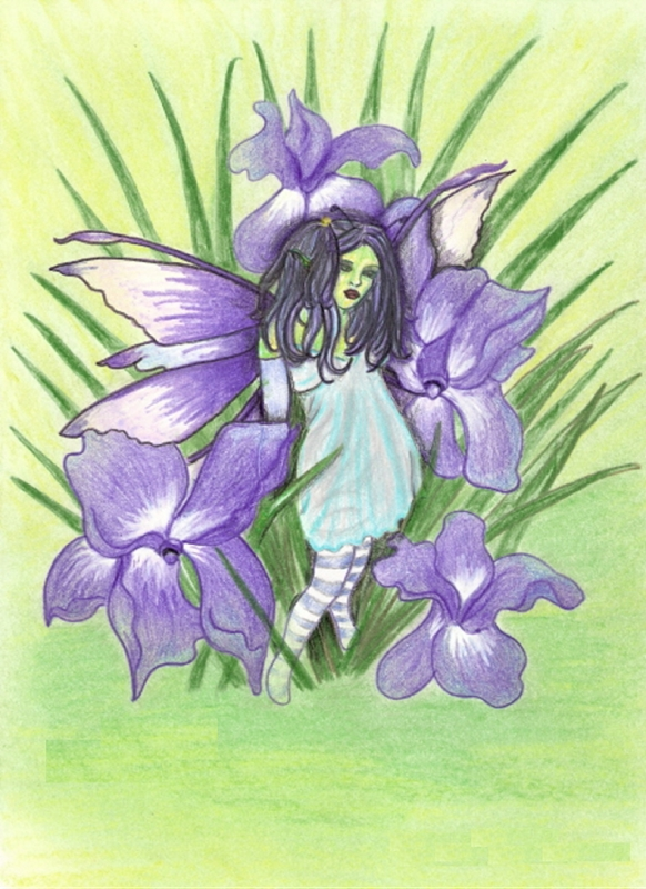 Tilly's Art Iris  personalised online greeting card