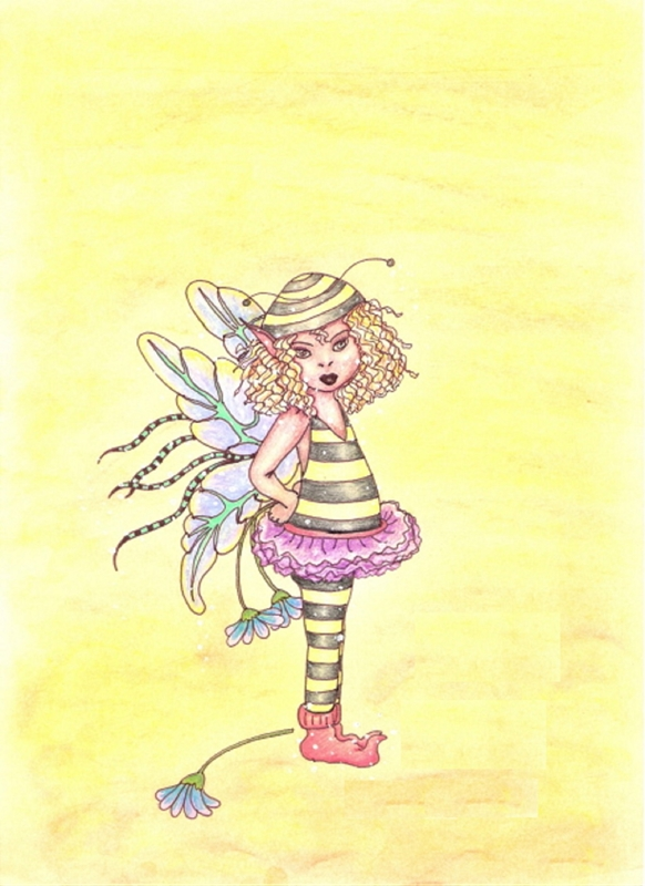 Tilly's Art bumble bee  personalised online greeting card