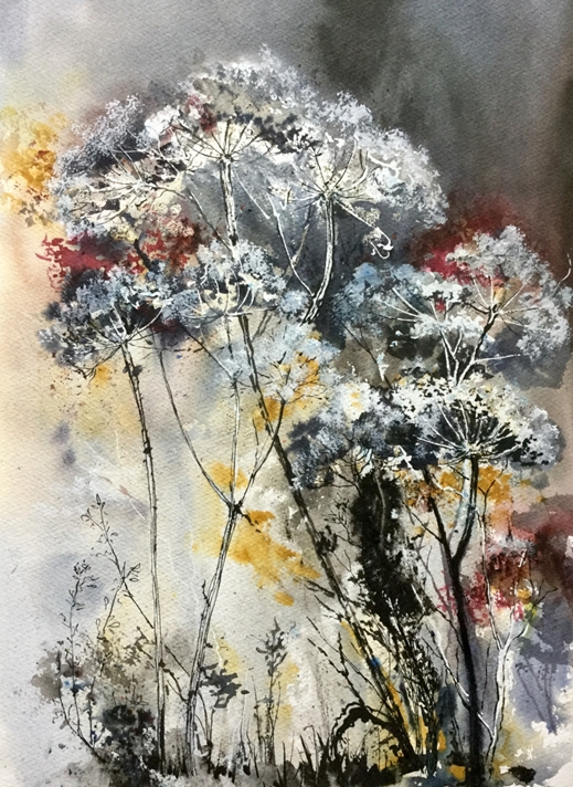 Art by Sheila O'Brien Winter Hedgerow  personalised online greeting card
