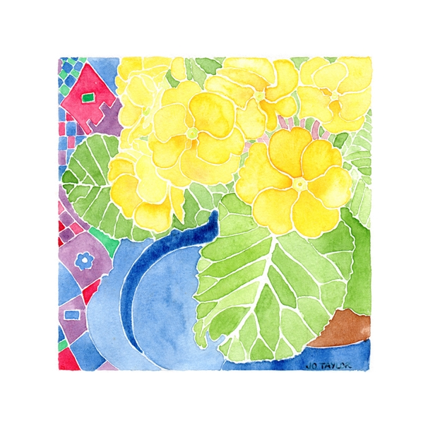 Blue Moon Cards by Jo Taylor Spring Primulas  personalised online greeting card