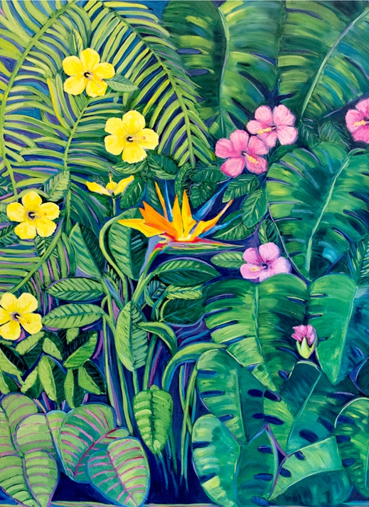 Carole Irving Art and Photography Tropical Garden  personalised online greeting card