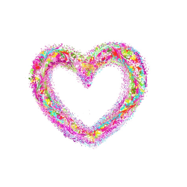 Carole Irving Art and Photography Hippy Heart  personalised online greeting card