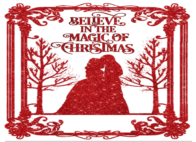 Lizzy'sCardsLTD Believe In The Magic Of Christmas (red)  personalised online greeting card