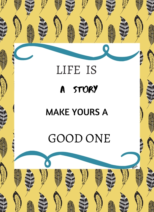 Her Nibs  Life is a story  personalised online greeting card