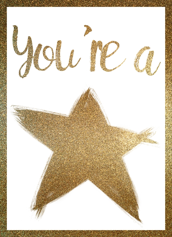 Joyful  You're a star  personalised online greeting card