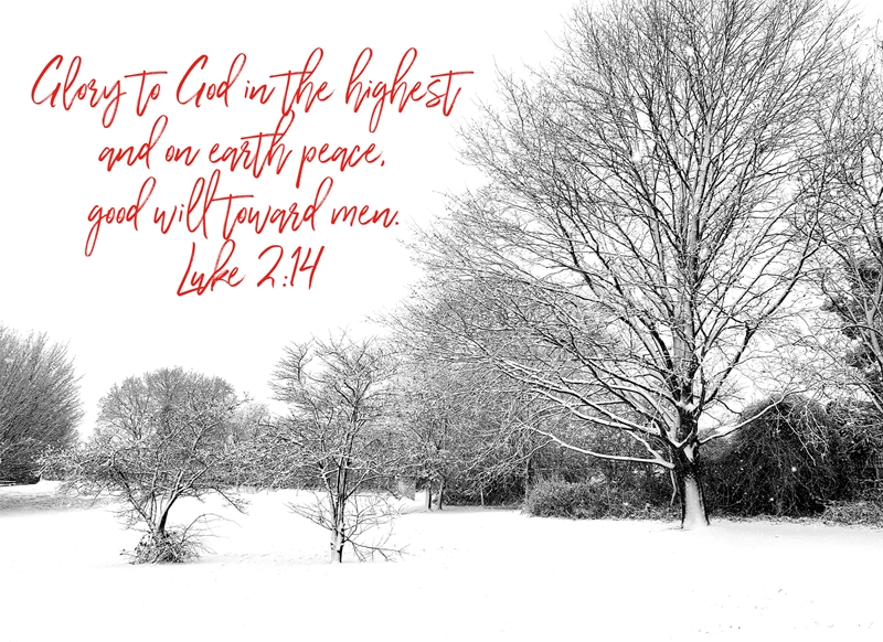 Joyful  Glory to God in the highest  personalised online greeting card