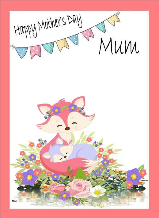 Her Nibs  Mother's Day  Fox  personalised online greeting card