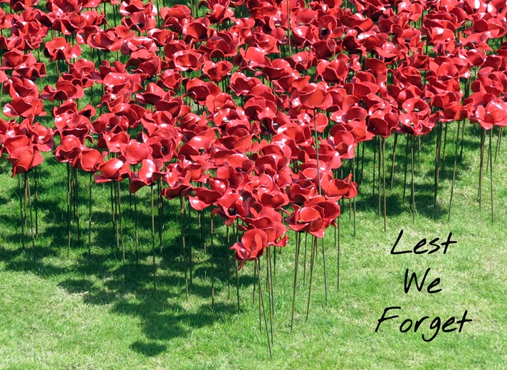 Debbie Daylights Lest We Forget Poppies 2  personalised online greeting card