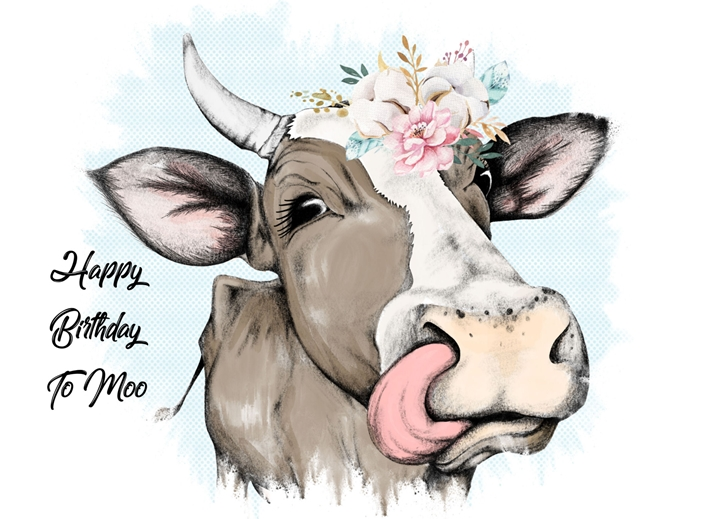 Snappy Designz Happy Birthday To Moo  personalised online greeting card