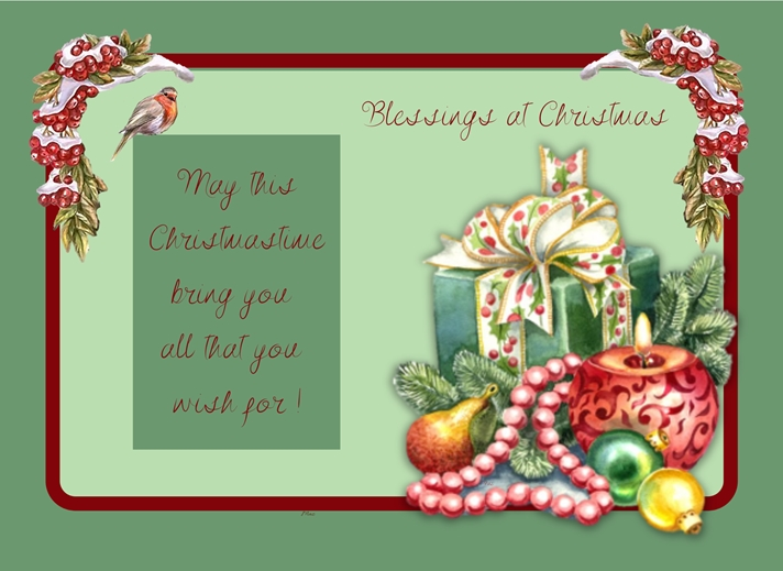 Her Nibs  Blessings at Christmas   personalised online greeting card