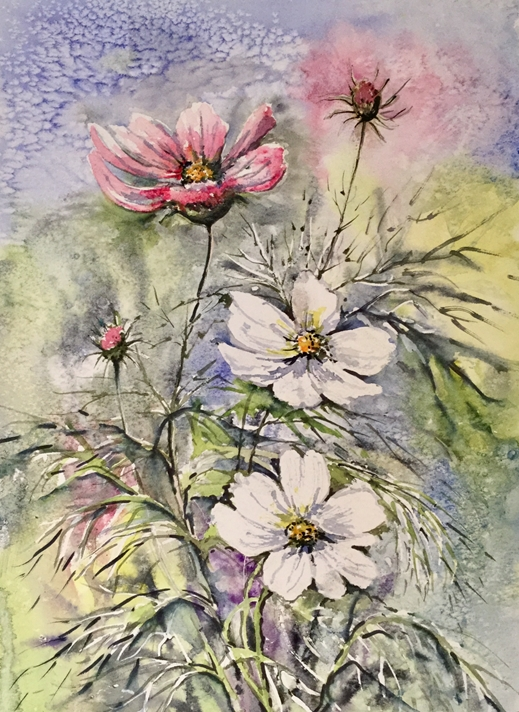 Art by Sheila O'Brien Cosmos  personalised online greeting card