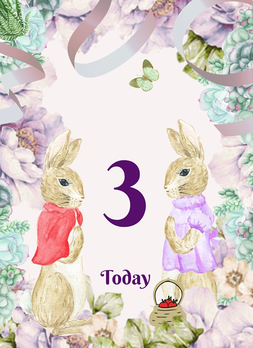Her Nibs  3 today (Add your name of choice)  personalised online greeting card