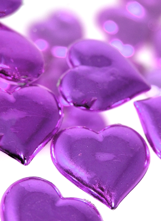 Carole Irving Art and Photography Purple Hearts  personalised online greeting card