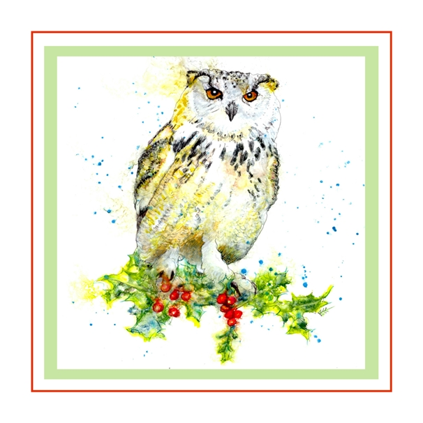Bee Skelton Holly & the Owl  personalised online greeting card