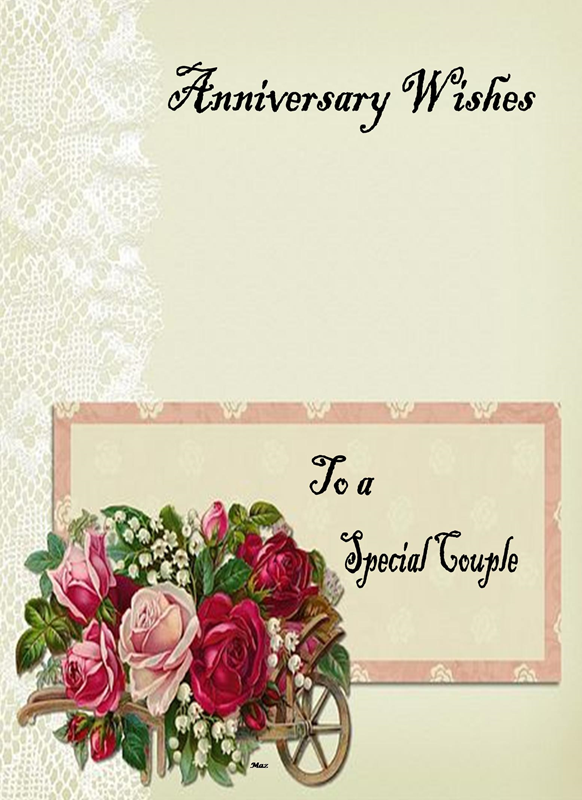 Her Nibs  Anniversary wishes to a special couple  personalised online greeting card
