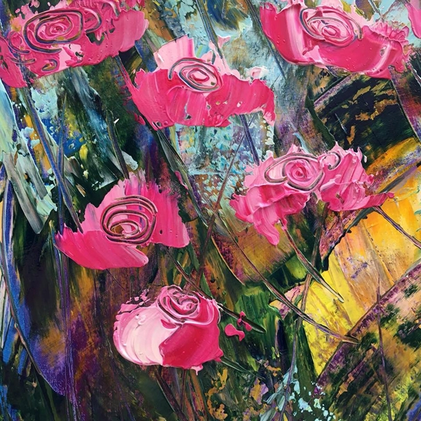 Carole Irving Art and Photography Painted Roses  personalised online greeting card
