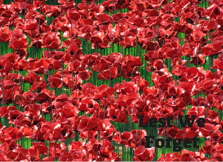 Debbie Daylights Lest We Forget Poppies 1  personalised online greeting card