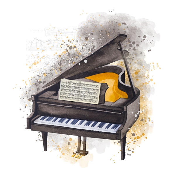 Snappy Designz Piano Blank General Card - Any Occasion  personalised online greeting card