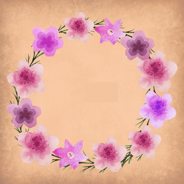 Mum's the Boss Floral wreath  personalised online greeting card