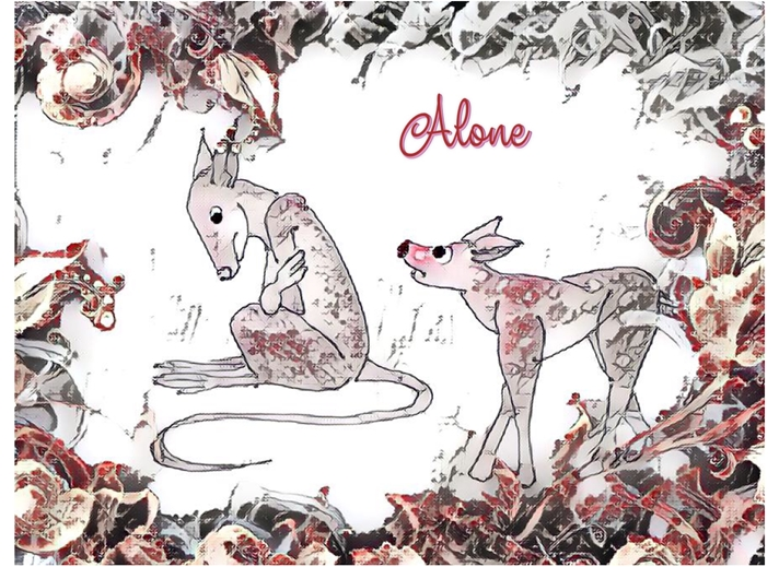 Alone  personalised online greeting card