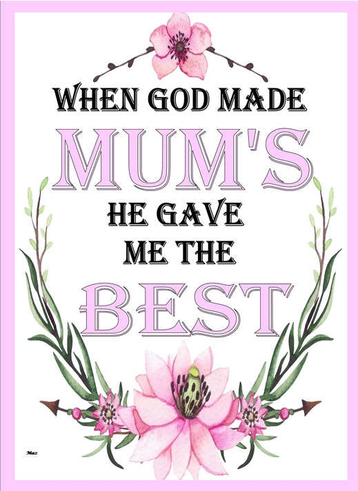 Her Nibs  When God made Mum's   personalised online greeting card