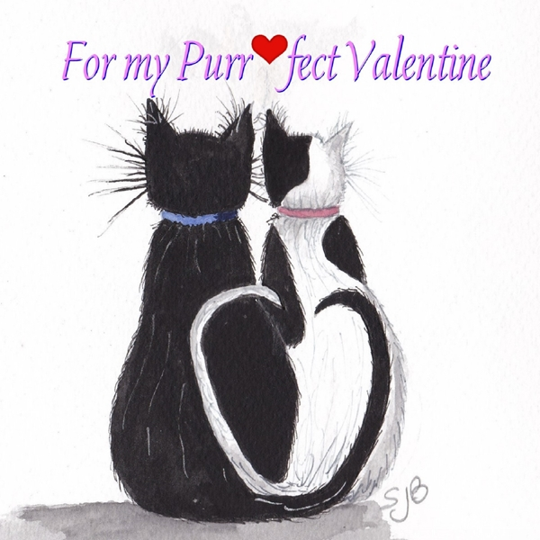 SJB Cards Valentine Cats  personalised online greeting card