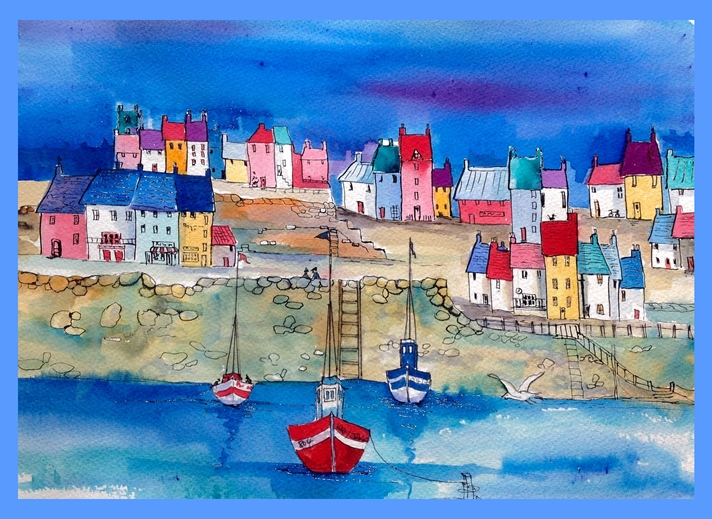 Art by Sheila O'Brien Harbour  personalised online greeting card