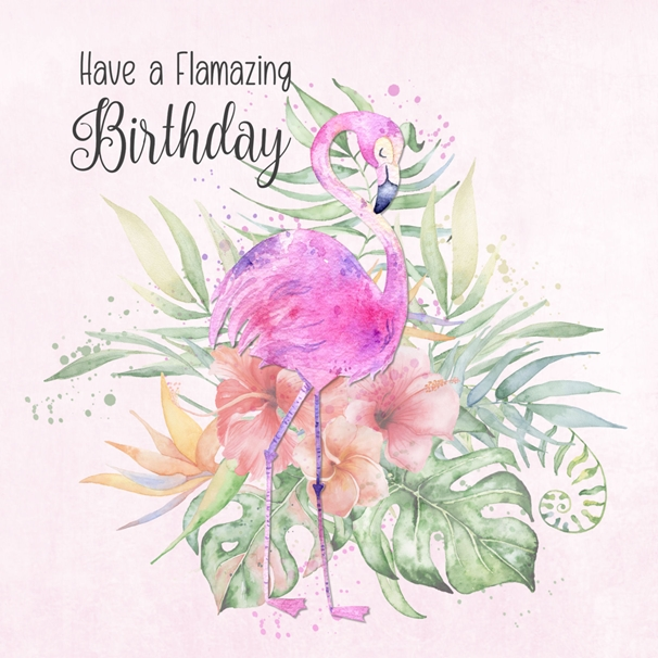Snappy Designz Have a Flamazing Birthday  personalised online greeting card