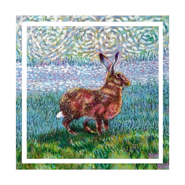 Bee Skelton Golden Hare  personalised online greeting card