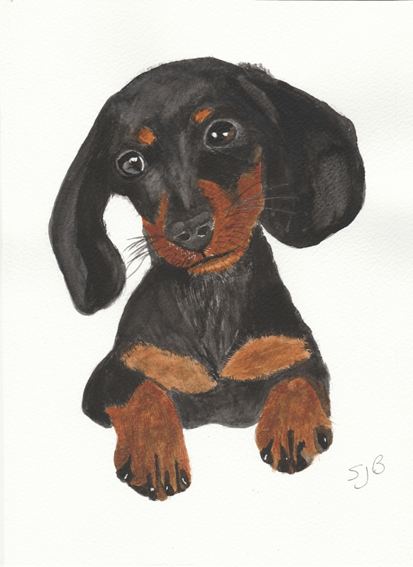 SJB Cards Dachshund  personalised online greeting card