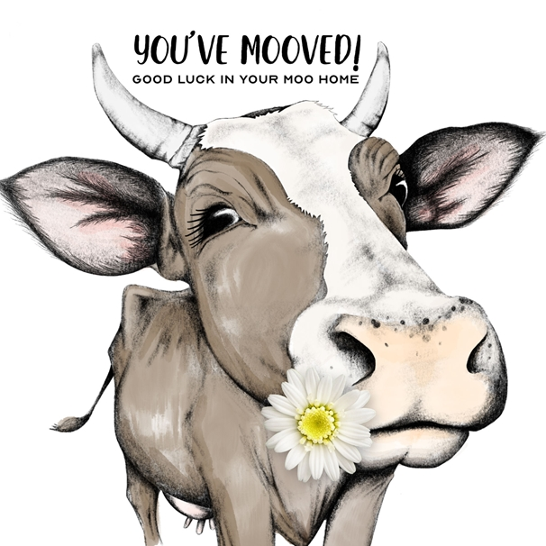 Snappy Designz You've Mooved Card  personalised online greeting card