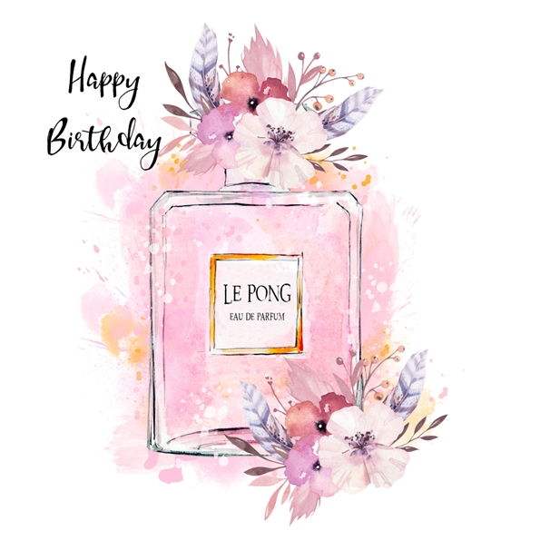Snappy Designz Perfume Birthday Card  personalised online greeting card