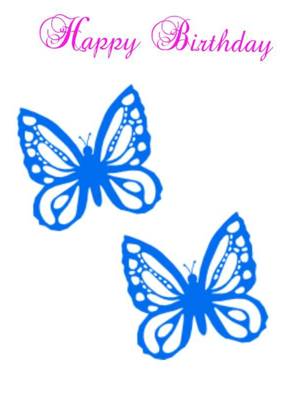 Chars Funky cards Butterfly Birthday  personalised online greeting card