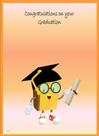 Congratulations Colourful book glasses personalised online greeting card