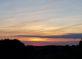 Photography sunset, sky, colours, orange, clouds, landscape personalised online greeting card