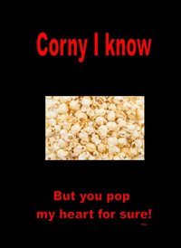 Valentines  Popcorn Funny  z%a personalised online greeting card