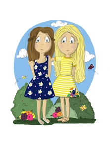 Girls Friends Sisters Cousins personalised online greeting card