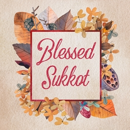 Blessed Sukkot Jewish Celebration