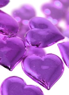 Carole Irving Art and Photography Purple Hearts Photography purple mauve shine reflections love grief sadness bereavement reflective passing time personalised online greeting card
