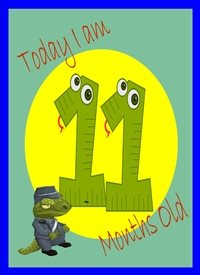 Birthday Colourful Dinosaur 11 personalised online greeting card
