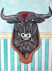 art bull horns animals z%a personalised online greeting card