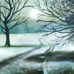 Christmas Road to Malmesbury Winter personalised online greeting card