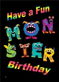 Birthday Colourful Monsters  personalised online greeting card