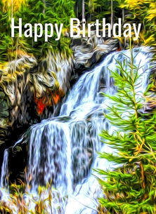 birthday BIRTHDAY, Waterfalls, landscapes, him, her, mum,dad, grandma, granddads, nature personalised online greeting card