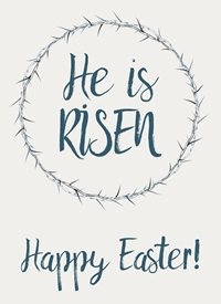 Easter he is risen happy easter greeting card christian biblical religious made with love by raluca curcan personalised online greeting card